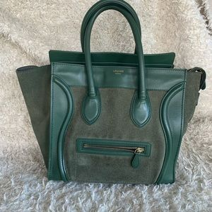 Celine Mini Luggage Leather and Suede